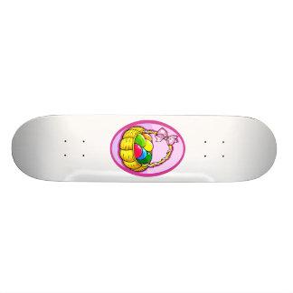 easter eggs in basket lilac oval png skate decks