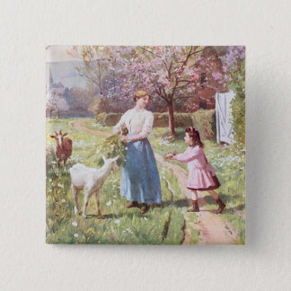 Easter Eggs in the Country, 1908 15 Cm Square Badge