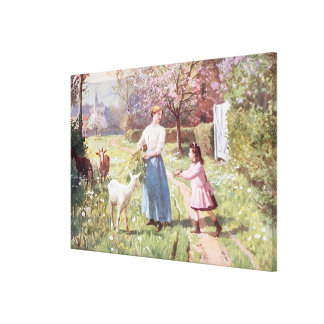 Easter Eggs in the Country, 1908 Canvas Print