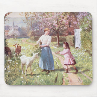 Easter Eggs in the Country, 1908 Mouse Pad