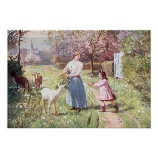 Easter Eggs in the Country, 1908 Poster