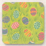 Easter Eggs in the Grass Cork Coasters