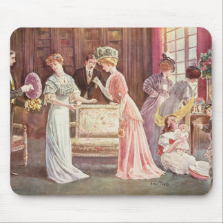 Easter Eggs in Town, 1908 Mouse Pad