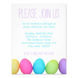 Easter Eggs Invitations