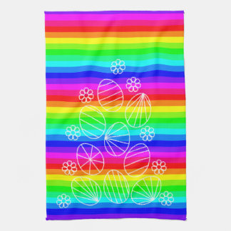 Easter eggs kitchen towel