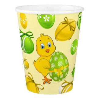 Easter Eggs Little Chicken Pattern Paper Cup