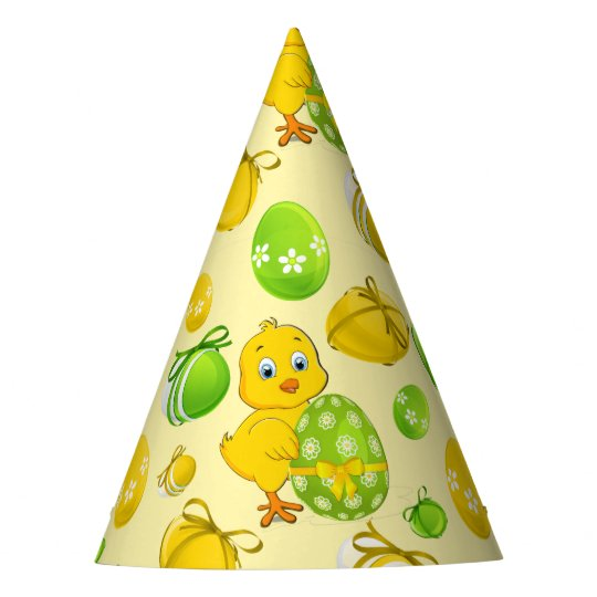 Easter Eggs Little Chicken Pattern Party Hat