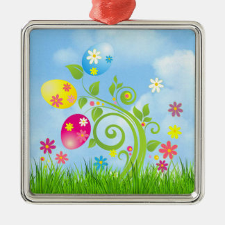 Easter Eggs on a Vine Christmas Ornament