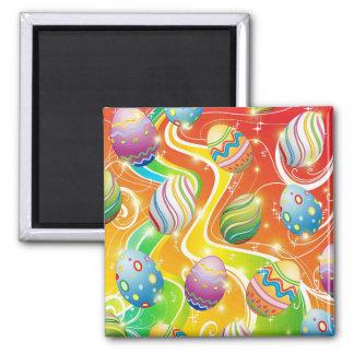 Easter Eggs Ornamental Design Magnet