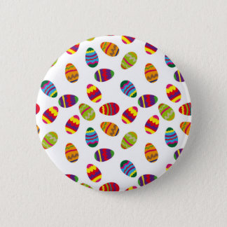 Easter eggs pattern 6 cm round badge