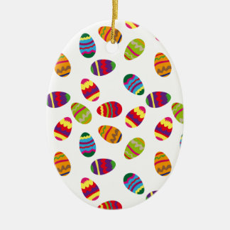 Easter eggs pattern ceramic oval decoration