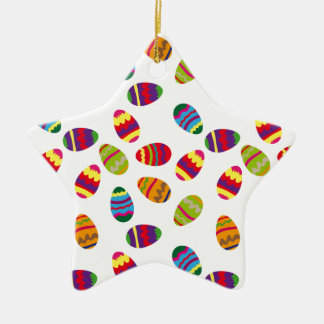 Easter eggs pattern christmas ornament