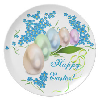 Easter Eggs Party Plates