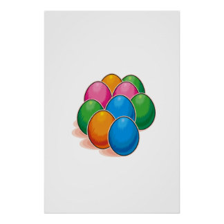 Easter Eggs Posters