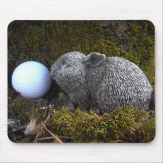 Easter Eggs, Rabbit ,White Golf Ball Mousepads