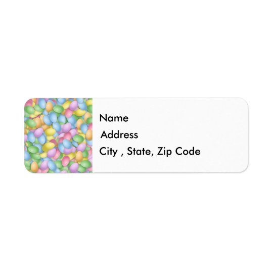 Easter Eggs Return Address Label