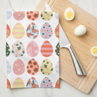 Easter Eggs Tea Towel