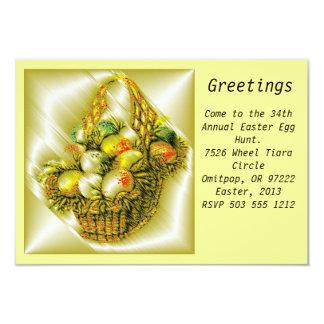 Easter Eggs Template Invitation