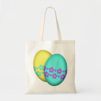 Easter Eggs With Flowers Tote Bag