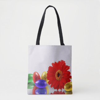 Easter Eggs with Gerbera - All-Over-Print Tote Bag