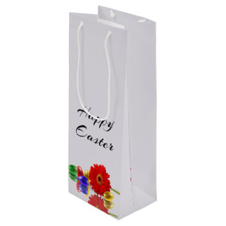 Easter Eggs with Gerbera - Wine Gift Bag