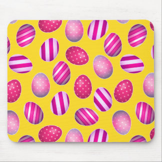 Easter Eggs Yellow and Pink Pattern Mouse Pads