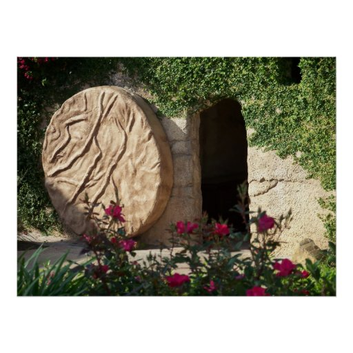 Easter Empty Tomb of Jesus Christ Poster Photo