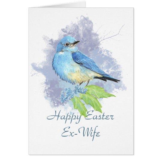 Easter Ex-Wife Eastern Mountain Bluebird Card
