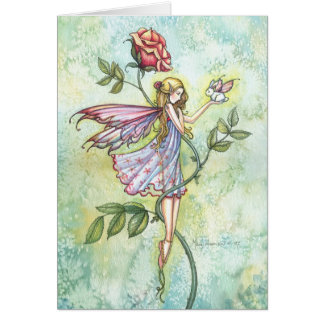 Easter Fairy and Bunny Card by Molly Harrison