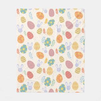 Easter fleece blanket bunny eggs pattern