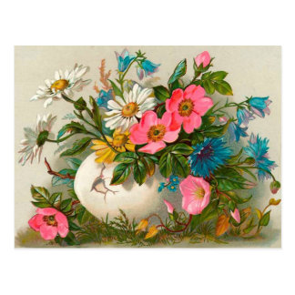 Easter Flowers Vintage Floral Art Postcard
