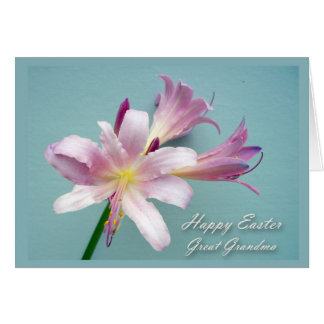 Easter for Great-Grandma, Resurrection Lily Card