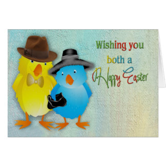 Easter - For the Both of You - Chicks Dressed Up Card
