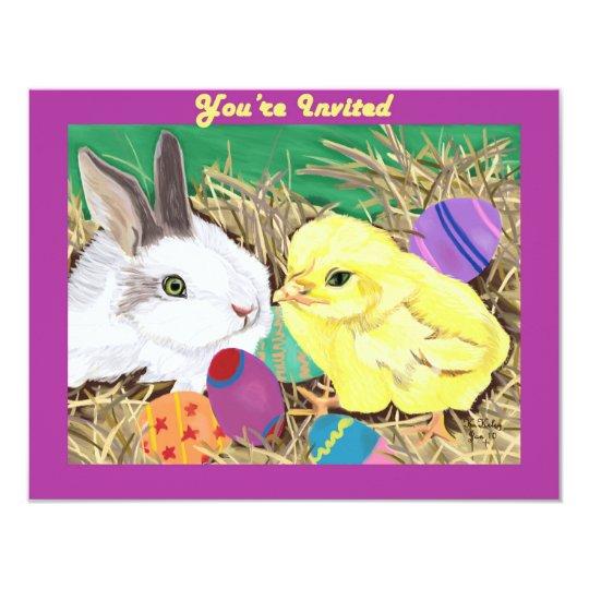 Easter Friends customisable invitation