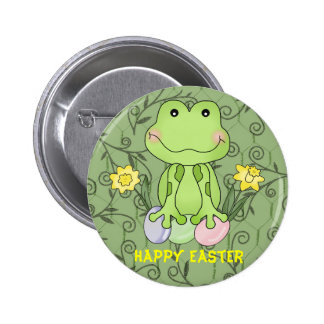 Easter Frog Magnet Button
