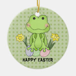 Easter Frog Ornament