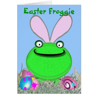 Easter Froggie Greeting Card