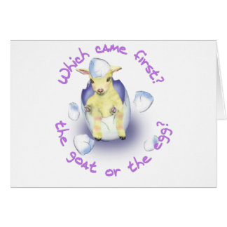 Easter Funny Goat Greeting Card