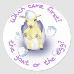Easter Funny Goat Classic Round Sticker
