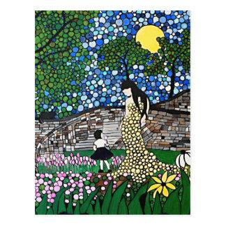 Easter Garden Postcard