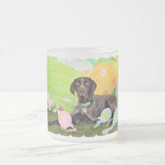Easter - German Shorthair Pointer - Kaiser Frosted Glass Mug