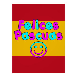 Easter Gifts for Spanish Speakers Felices Pascuas Posters