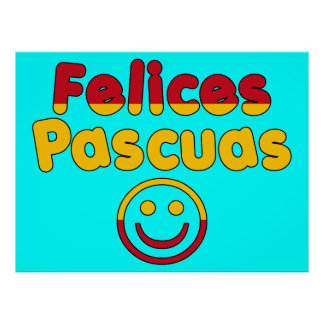 Easter Gifts for Spanish Speakers Felices Pascuas Poster