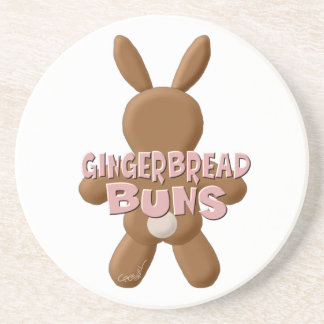 Easter Gingerbread Buns Drink Coaster