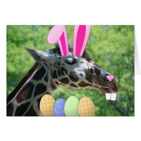 Easter Giraffe Card