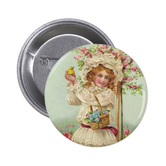 Easter Girl Buttons