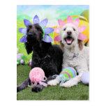 Easter - GoldenDoodles - Sadie and Izzie