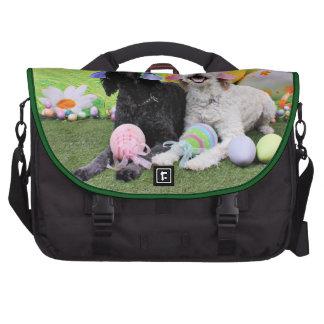 Easter - GoldenDoodles - Sadie and Izzie Laptop Commuter Bag