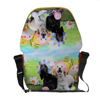 Easter - GoldenDoodles - Sadie and Izzie Messenger Bags