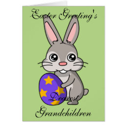 Grandchildren easter gifts gift ideas zazzle uk easter greeting card negle Images